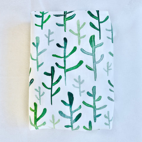 Green Cacti Change Pad / Euro Bassinet Sheet