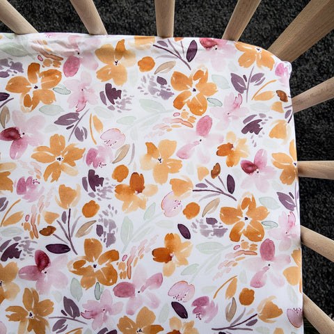Autumn Bunch Waterproof Bassinet Sheet