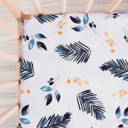 Blue Bird | Waterproof Cot Sheet | Organic Cotton