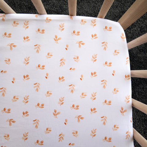 Chai Leaves Waterproof Cot Sheet