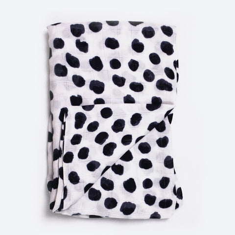 Ink Spot 100% Bamboo Swaddle