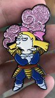 High Arnold Helga X Vegita Mashup Pin !