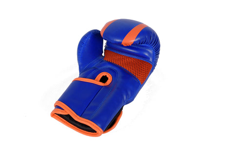 Kids Boxing Gloves Kickboxing Punching Training Sparring Gloves Blue