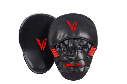 Gel Padded Curved Focus Pads Mitts for Boxing Kickboxing MMA Cardio
