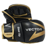 MMA Hybrid sparring grappling gloves Galvarino series - Gold colour