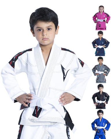 Kids Ultra-light Attila series BJJ gi with pre-shrunk fabric and FREE Belt