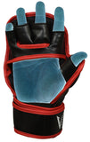 MMA Hybrid sparring grappling gloves Galvarino series - Red colour