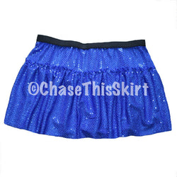 skirt - Blue Sparkle Running Skirt - DGSG Athletic Apparel