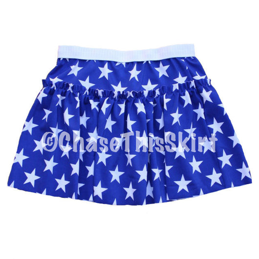 skirt - Blue Stars Running Skirt - DGSG Athletic Apparel