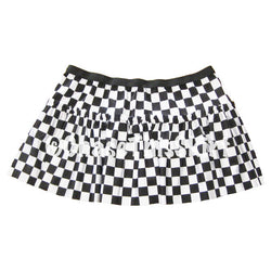 skirt - Black & White Checkered Running Skirt - DGSG Athletic Apparel