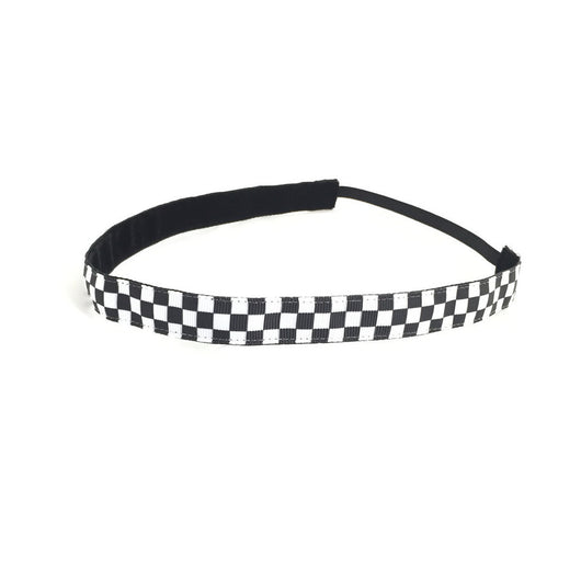 headband - Black & White Checkered Headband - DGSG Athletic Apparel
