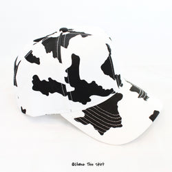 hat - Cow Print Snapback - DGSG Athletic Apparel
