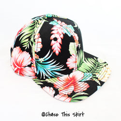 hat - Floral Snapback - DGSG Athletic Apparel