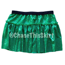 skirt - Green Sparkle Running Skirt - DGSG Athletic Apparel