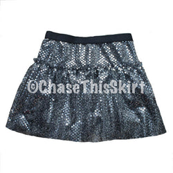skirt - Slate Sparkle Running Skirt - DGSG Athletic Apparel
