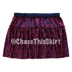 skirt - Red Hearts Running Skirt - DGSG Athletic Apparel