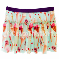 skirt - Ice Cream Running Skirt - DGSG Athletic Apparel