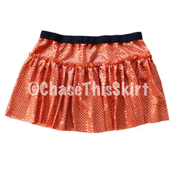 skirt - Orange Sparkle Running Skirt - Chase This Skirt