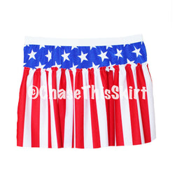 skirt - American Flag Running Skirt - DGSG Athletic Apparel