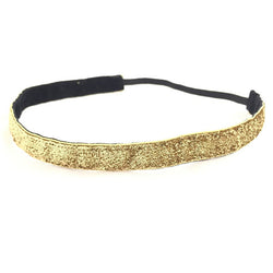 headband - Gold Glitter Headband - DGSG Athletic Apparel