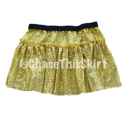 Yellow Gold Sparkle Running Skirt-Chase This Skirt
