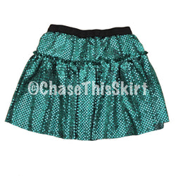 skirt - Kelp Sparkle Running Skirt - DGSG Athletic Apparel