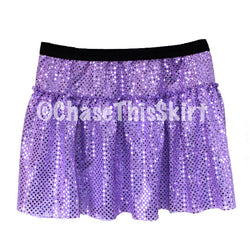 skirt - Lavender Sparkle Running Skirt - DGSG Athletic Apparel