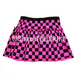 Pink Checkered Running Skirt | Chase This Skirt