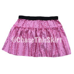 Baby Pink Sparkle Running Skirt | Chase This Skirt