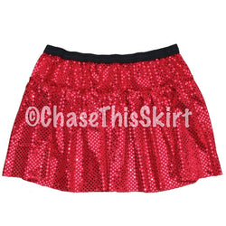 skirt - Red Sparkle Running Skirt - Chase This Skirt