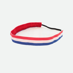headband - Red, White & Blue Striped Headband - Chase This Skirt