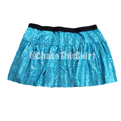 Turquoise Sparkle Running Skirt | Chase This Skirt