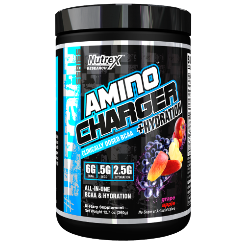 Dehydration is bad. Nutrex Amino Charger + Hydration can help.
