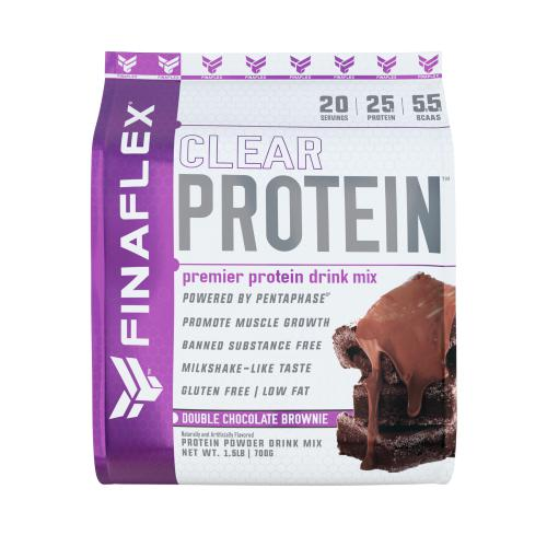 FinaFlex Clear Protein 1.5lb Double Chocolate Brownie