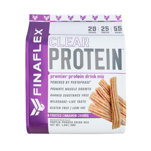 FinaFlex Clear Protein 1.5lb Frosted Cinnamon Churro