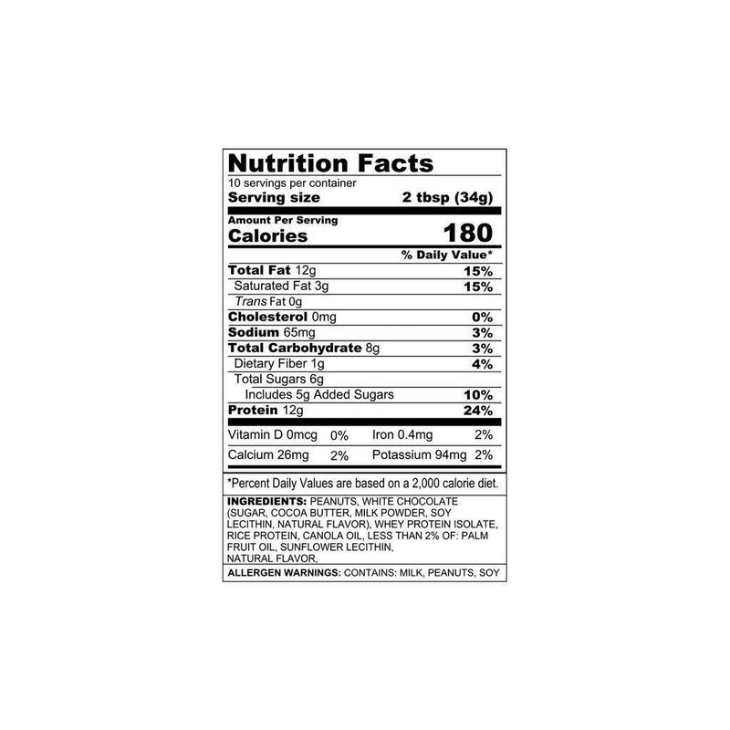 Sinister Labs Angry Mills Protein Spread Non Caffeinated Nutrition Facts