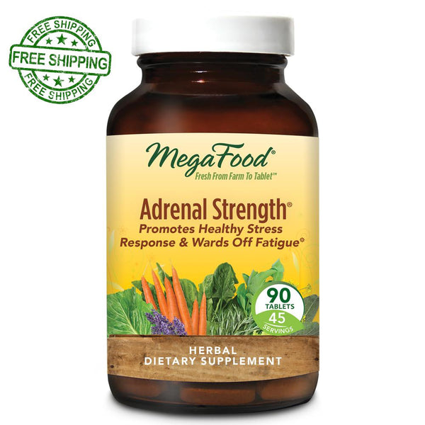 MegaFood Adrenal Strength 90 Tablets Free Shipping
