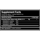 Allmax Nutrition BCAA Powder Supplement Facts