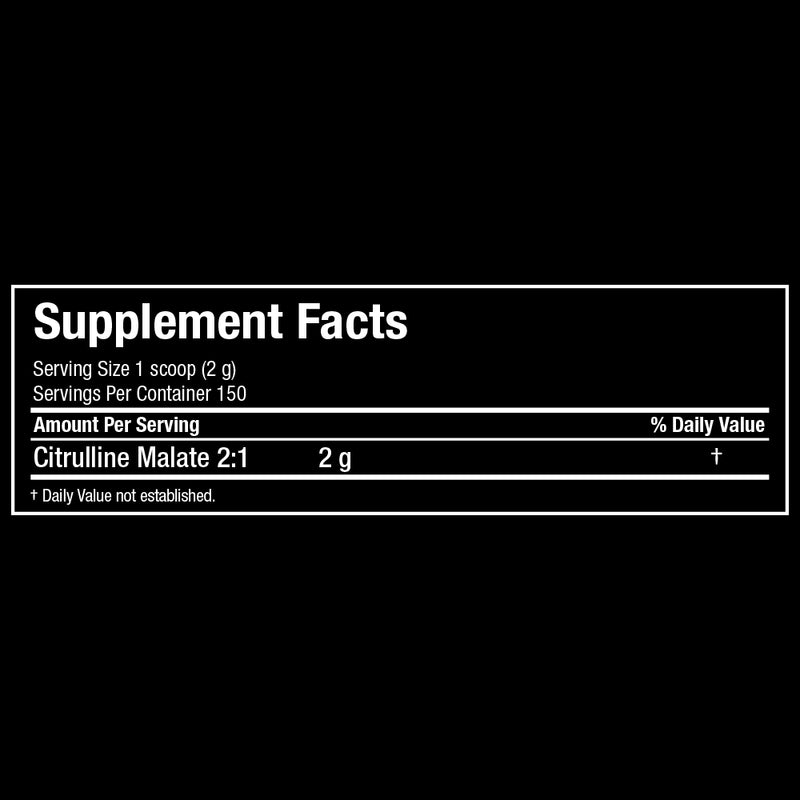 Allmax Nutrition Citrulline Malate Supplement Facts