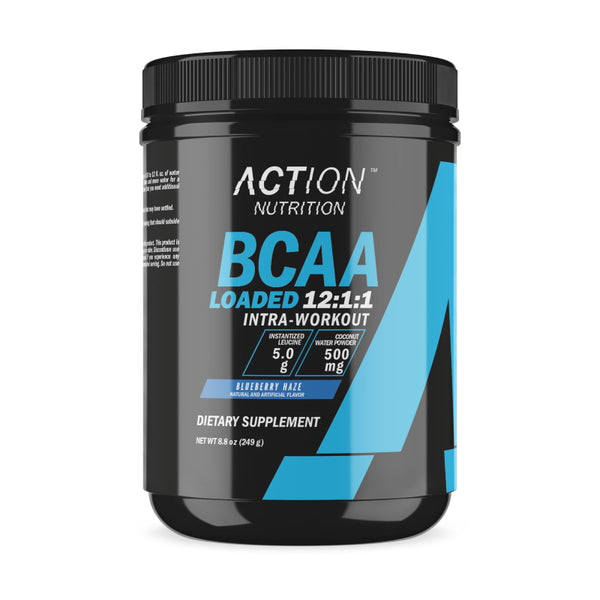 Action Nutrition BCAA Loaded 30 Servings Blueberry Haze