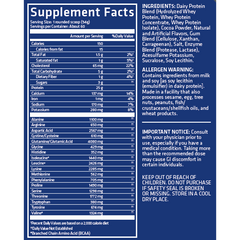 USN Blue Lab Whey 5lb Supplement Facts