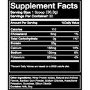 Blue Ribbon Nutrition ISO PRO 100% Whey Protein Isolate Vanilla Supplement Facts