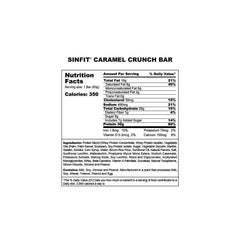 Sinister Labs SinFit Protein Bars Box of 12 Nutrition Facts