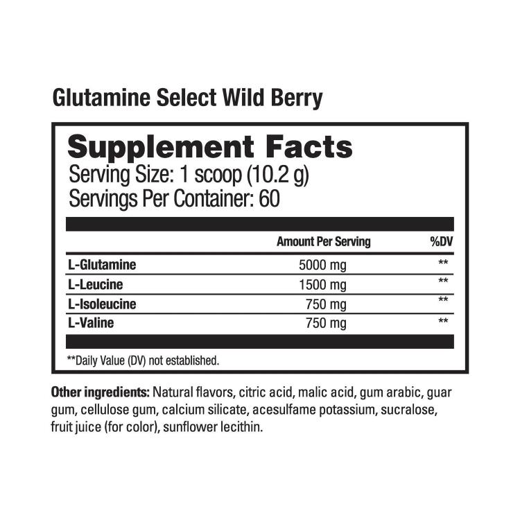 Beverly International Glutamine Select Wild Berry Supplement Facts