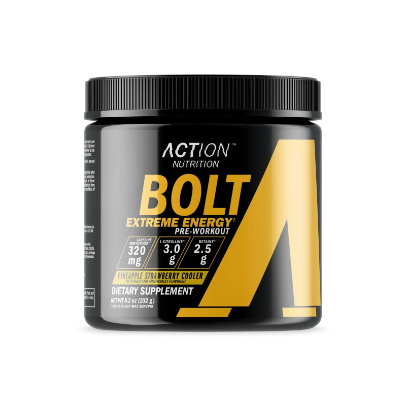Action Nutrition Bolt Extreme Energy 30 servings  Pineapple Strawberry Cooler