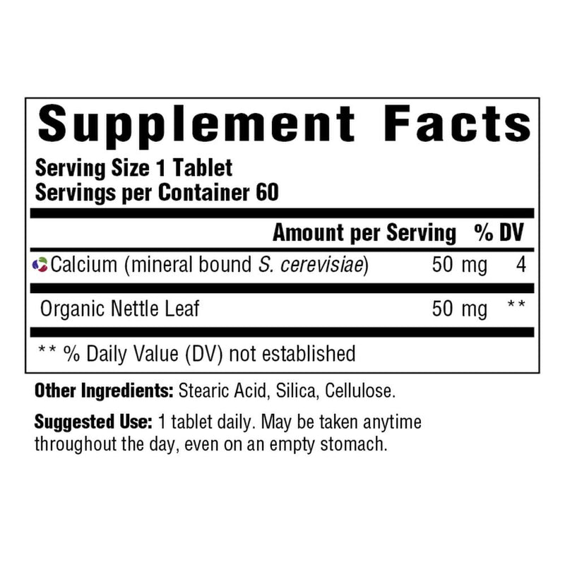 MegaFood Calcium Supplement Facts
