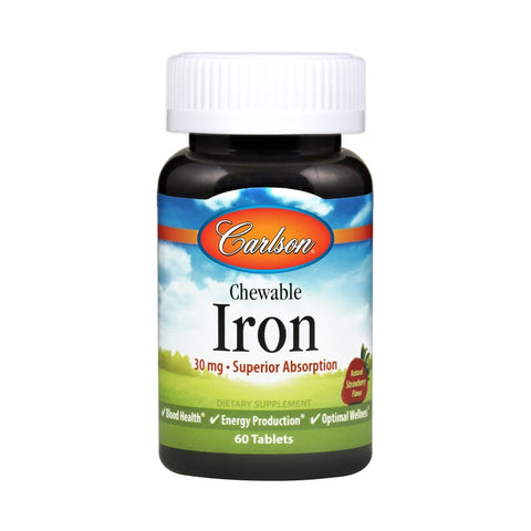 Carlson Labs Chewable Iron 30mg 60T