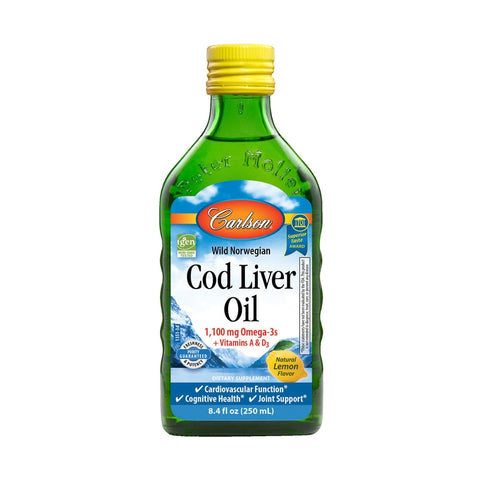 Carlson Labs Cod Liver Oil Liquid Lemon