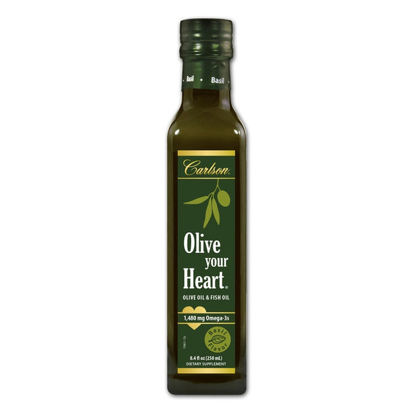 Carlson Labs Olive Your Heart Olive Oil Basil