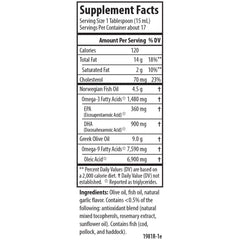 Carlson Labs Olive Your Heart Olive Oil Garlic Supplement Facts